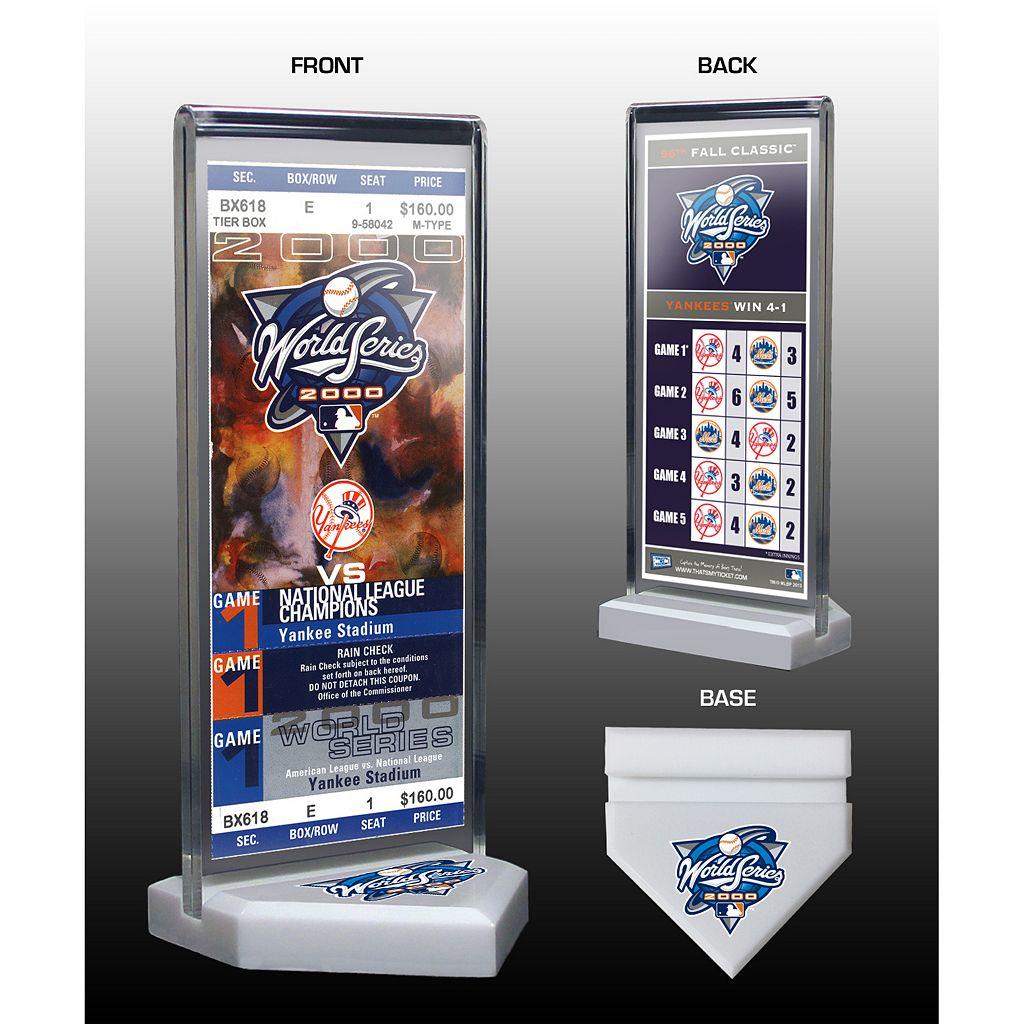 New York Yankees 2000 World Series Commemorative Ticket Desktop Display