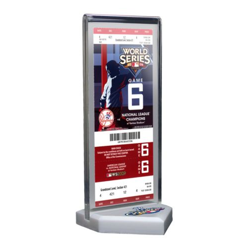 New York Yankees 2009 World Series Commemorative Ticket Desktop Display