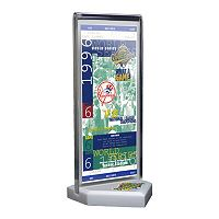 New York Yankees 1996 World Series Commemorative Ticket Desktop Display