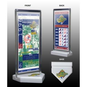New York Yankees 1996 World Series Commemorative Ticket Desktop Display