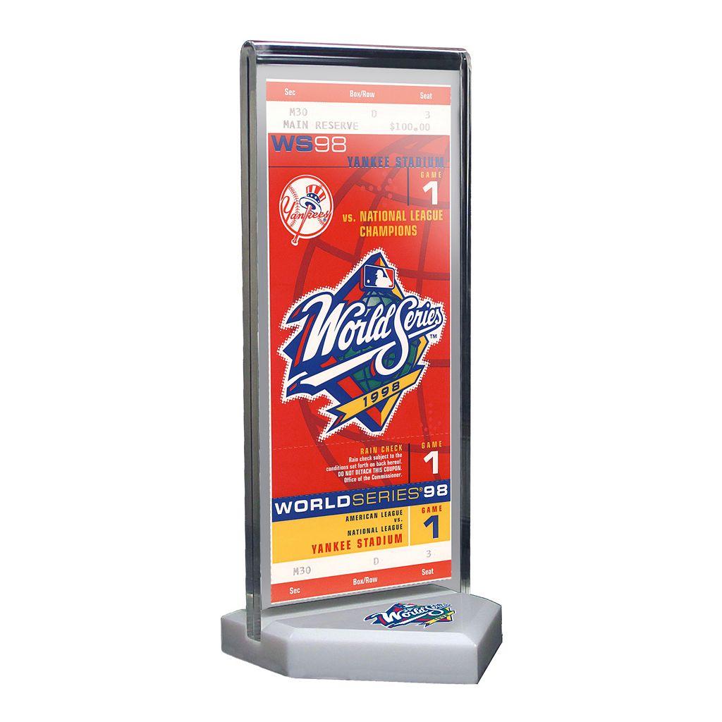 New York Yankees 1998 World Series Commemorative Ticket Desktop Display