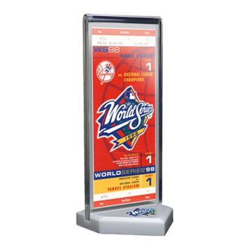 New York Yankees 1998 World Series Commemorative Ticket Desktop Display
