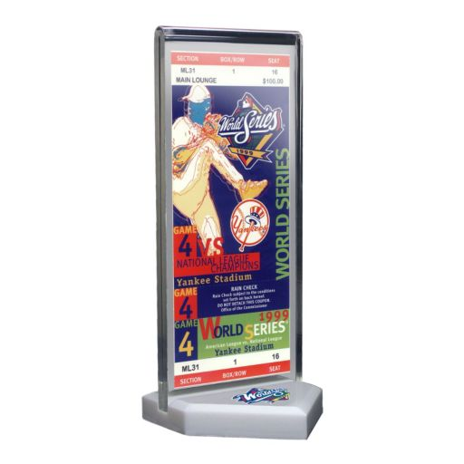 New York Yankees 1999 World Series Commemorative Ticket Desktop Display