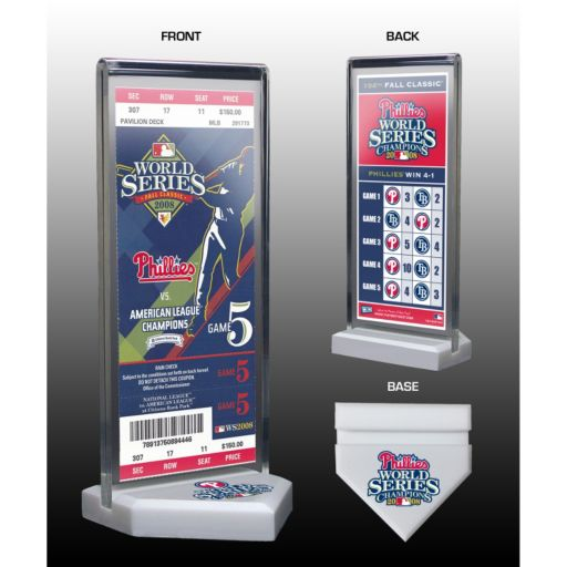 Philadelphia Phillies 2008 World Series Commemorative Ticket Desktop Display