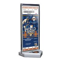 San Francisco Giants 2010 World Series Commemorative Ticket Desktop Display
