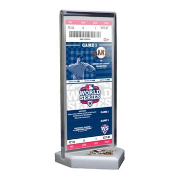 San Francisco Giants 2012 World Series Commemorative Ticket Desktop Display