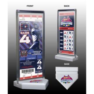 St. Louis Cardinals 2006 World Series Commemorative Ticket Desktop Display