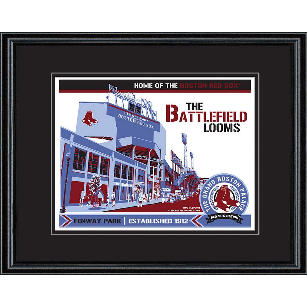 Boston Red Sox Fenway Park Handmade LE Framed Screen Print By Sports Propaganda