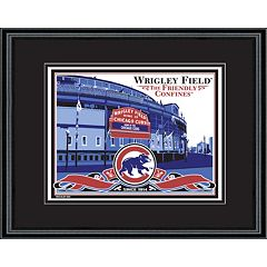 Chicago Cubs Wrigley Field Handmade LE Framed Screen Print By Sports Propaganda