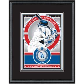 Los Angeles Dodgers Adrian Gonzalez Handmade LE Framed Screen Print By Sports Propaganda