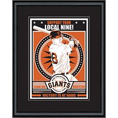 San Francisco Giants Buster Posey Handmade LE Framed Screen Print By Sports Propaganda
