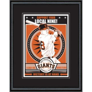 San Francisco Giants Buster Posey Handmade LE Framed Screen Print By Sports Propaganda
