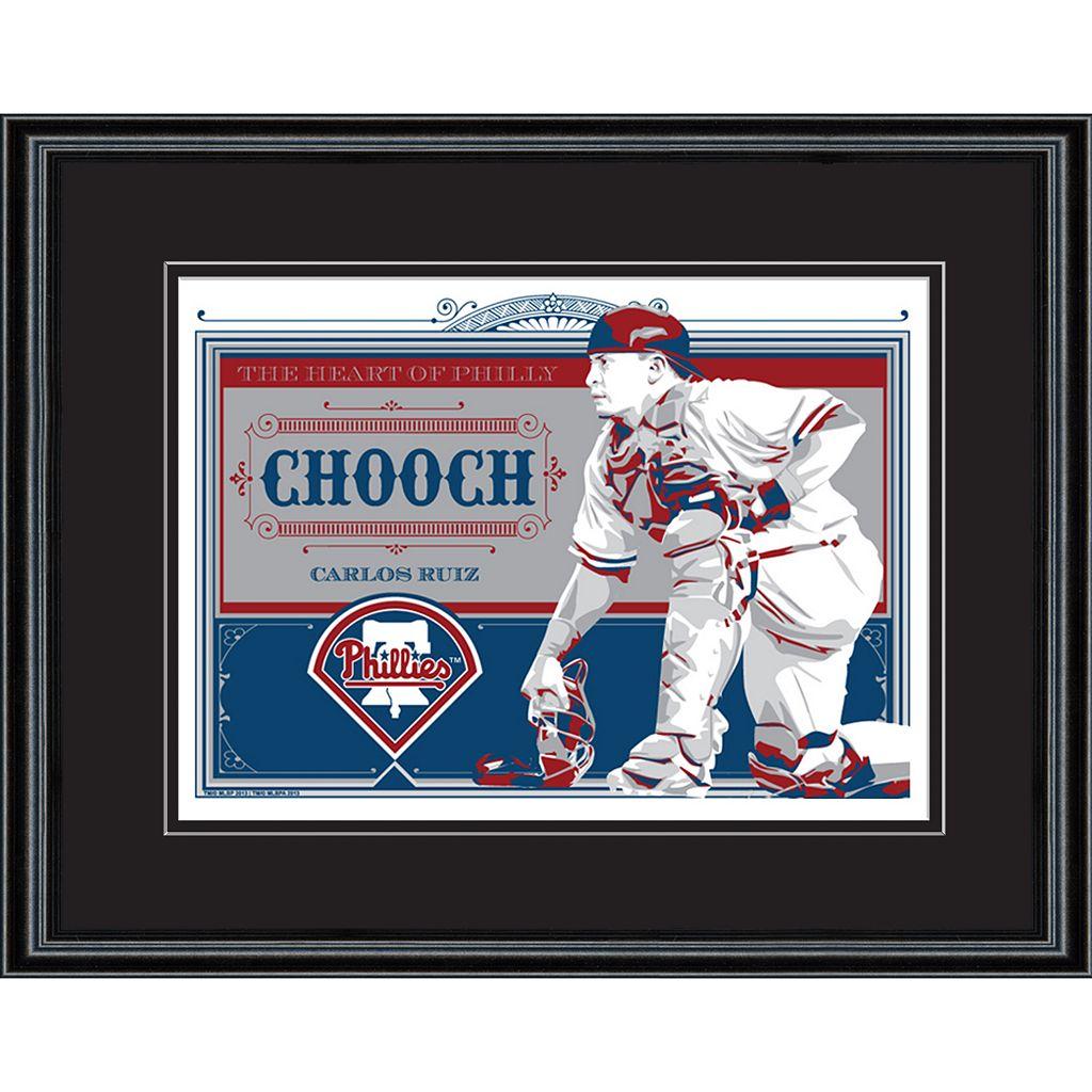 Philadelphia Phillies Carlos Ruiz Handmade LE Framed Screen Print By Sports Propaganda