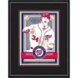 Washington Nationals Bryce Harper Handmade LE Framed Screen Print By Sports Propaganda