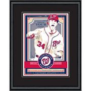 Washington Nationals Bryce Harper Handmade LE Framed Screen Print By Sports Propaganda