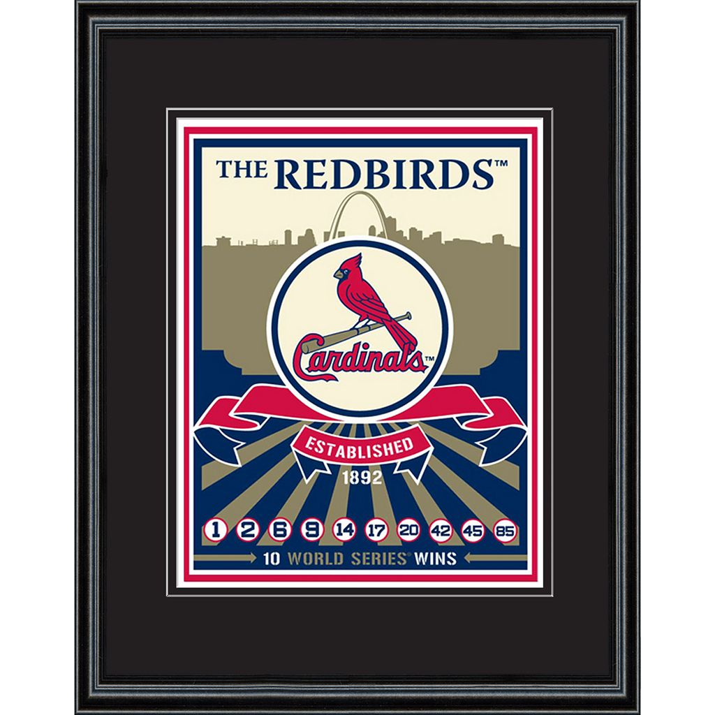 St. Louis Cardinals Handmade LE Framed Screen Print By Sports Propaganda
