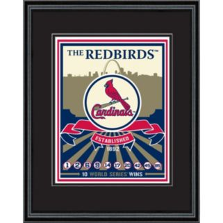 St. Louis Cardinals Handmade LE Framed Screen Print By Sports Propaganda