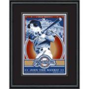 Milwaukee Brewers Ryan Braun Handmade LE Framed Screen Print By Sports Propaganda