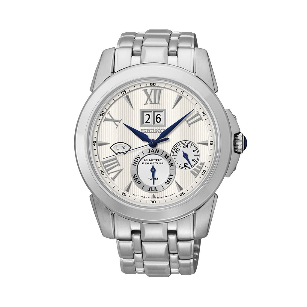Seiko Men's Le Grand Sport Stainless Steel Kinetic Watch - SNP065
