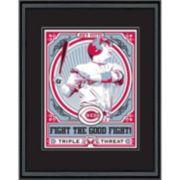 Cincinnati Reds Joey Votto Handmade LE Framed Screen Print By Sports Propaganda