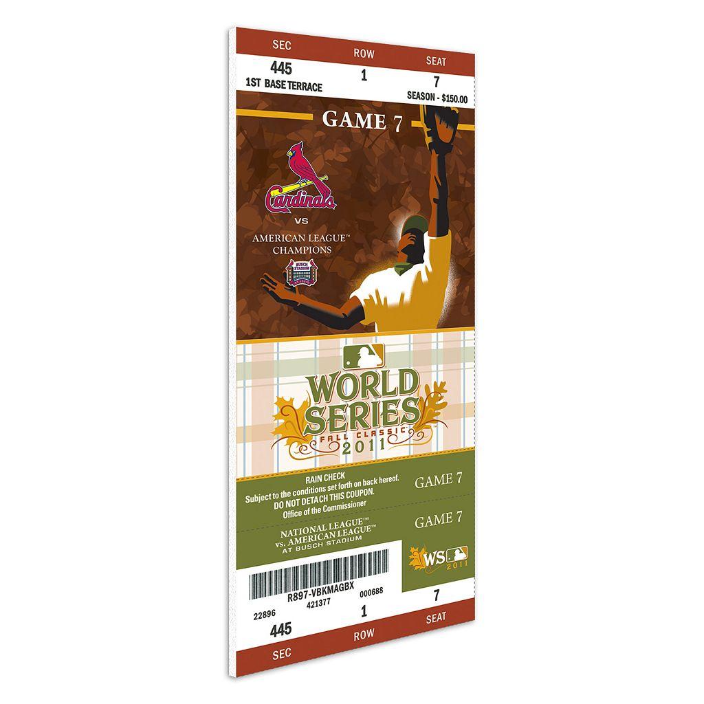 St. Louis Cardinals 2011 World Series Mega Ticket