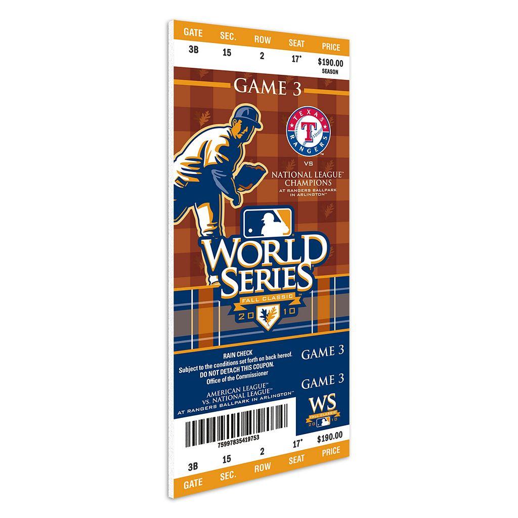 Texas Rangers 2010 World Series Mega Ticket