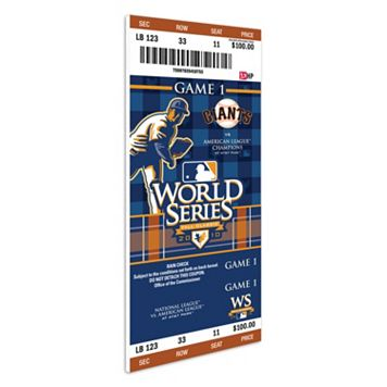 San Francisco Giants 2010 World Series Mega Ticket