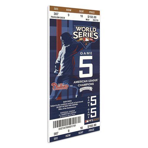 Philadelphia Phillies 2009 World Series Mega Ticket
