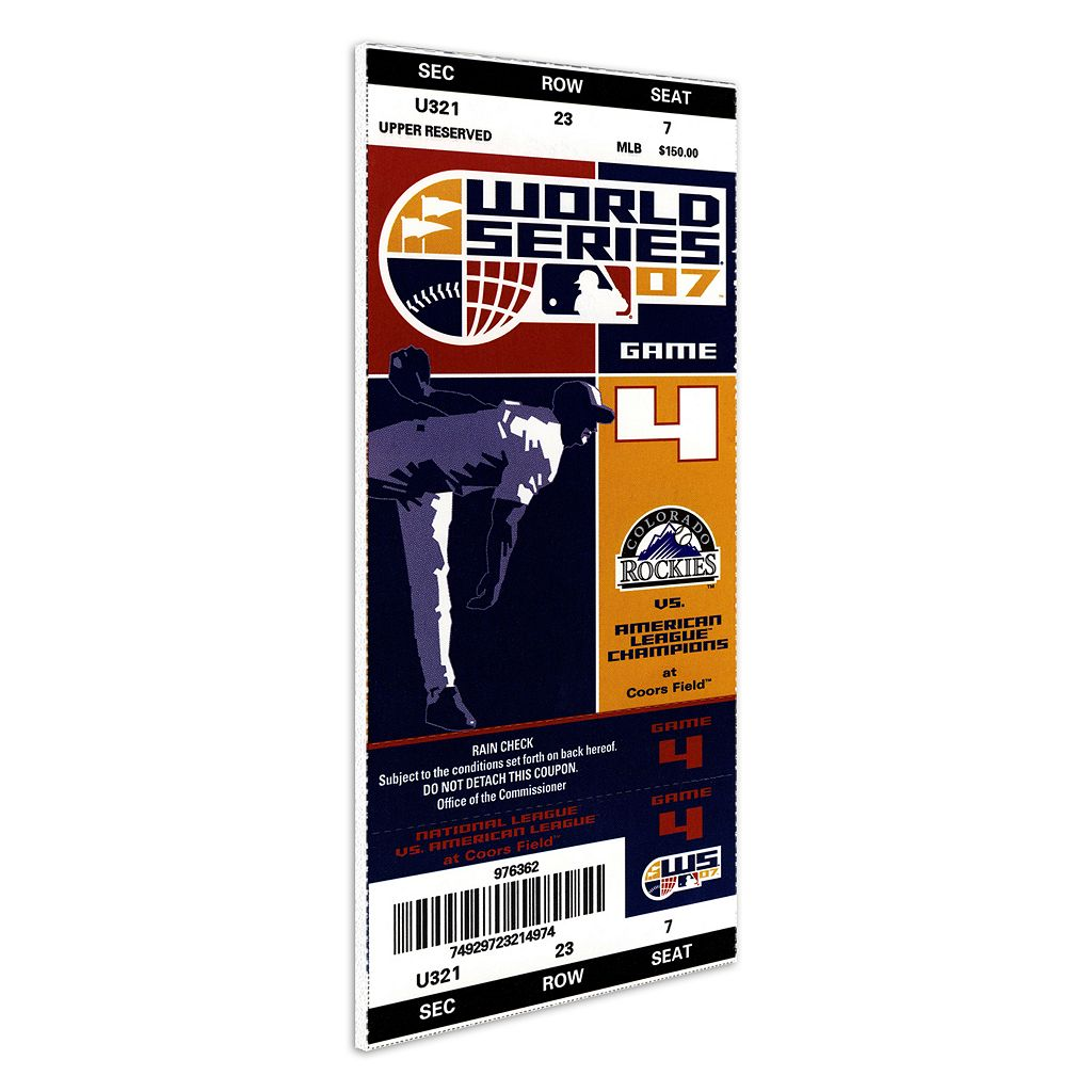 Colorado Rockies 2007 World Series Mega Ticket