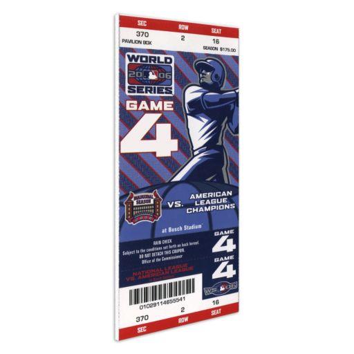 St. Louis Cardinals 2006 World Series Mega Ticket
