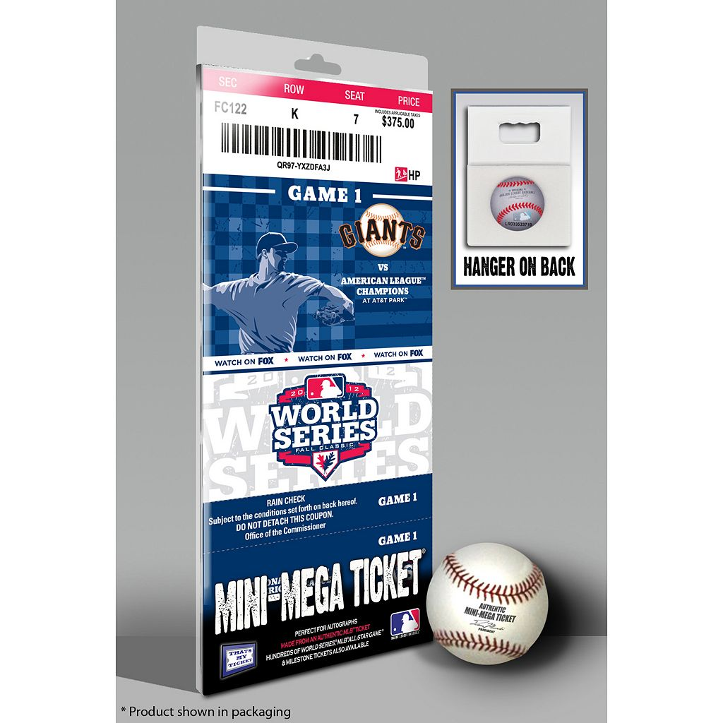 San Francisco Giants 2012 World Series Mini-Mega Ticket