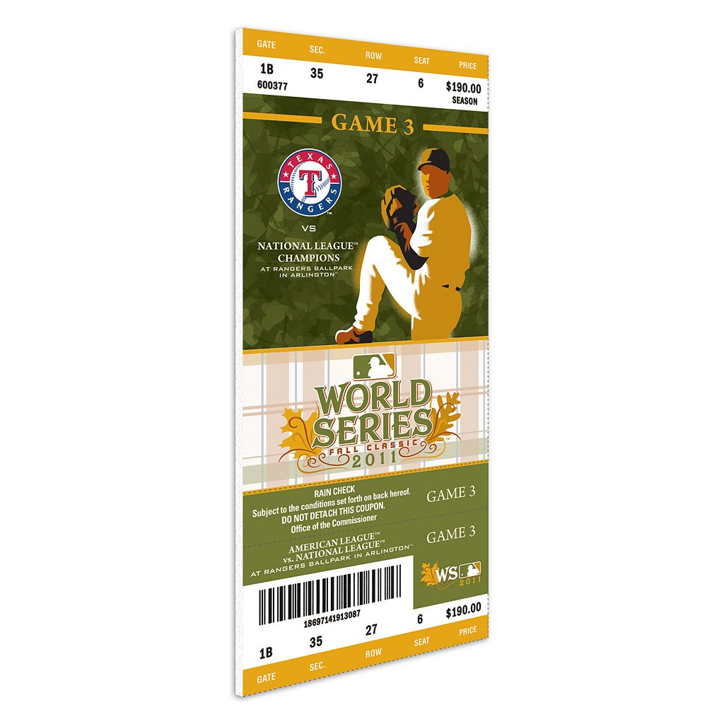 Texas Rangers 2011 World Series Mini-Mega Ticket