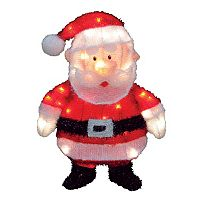Santa Claus 18-in. Pre-Lit Outdoor Decor