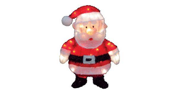 Santa Claus 18 In Pre Lit Outdoor Decor