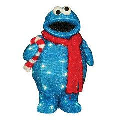 Sesame Street Cookie Monster 18 in Pre-Lit Outdoor Decor