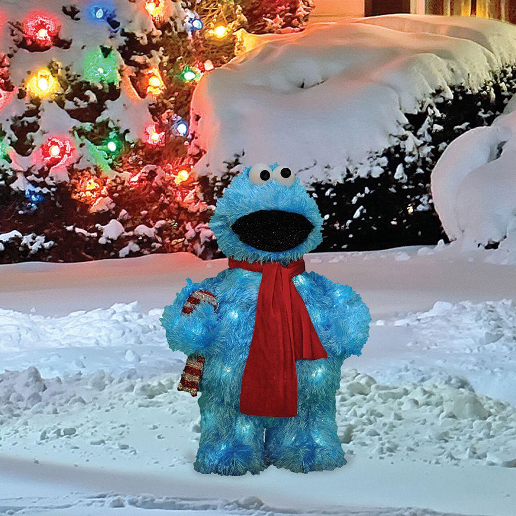 Sesame Street Cookie Monster 18-in. Pre-Lit Outdoor Decor