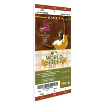 St. Louis Cardinals 2011 World Series Mini-Mega Ticket