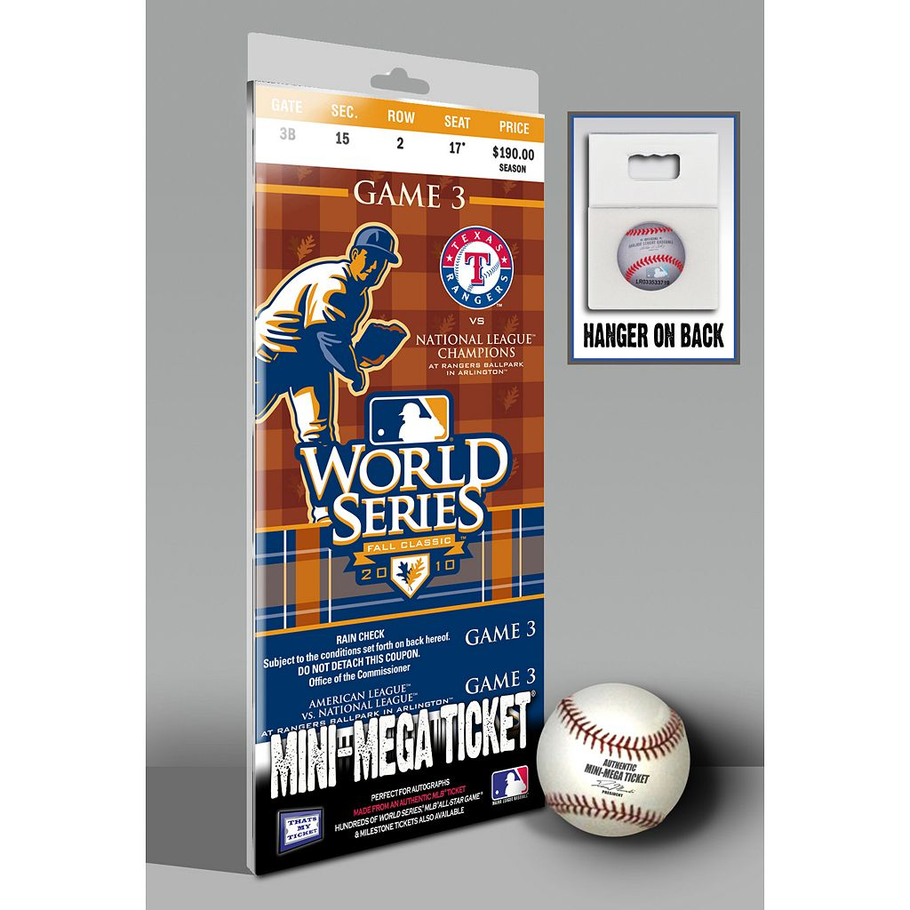 Texas Rangers 2010 World Series Mini-Mega Ticket