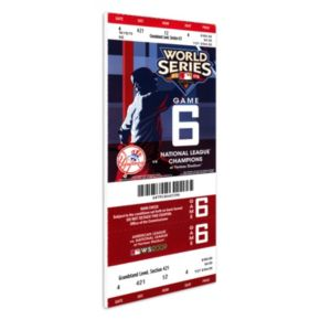 New York Yankees 2009 World Series Mini-Mega Ticket