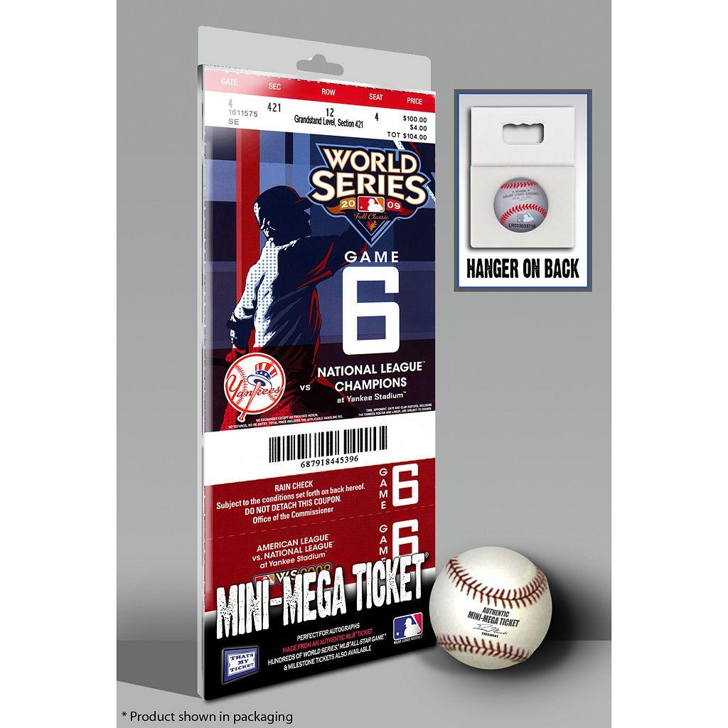 New York Yankees 2009 World Series Mini-Mega Ticket