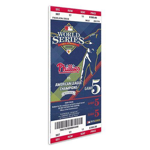 Philadelphia Phillies 2008 World Series Mini-Mega Ticket