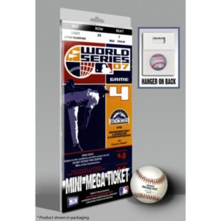 Colorado Rockies 2007 World Series Mini-Mega Ticket