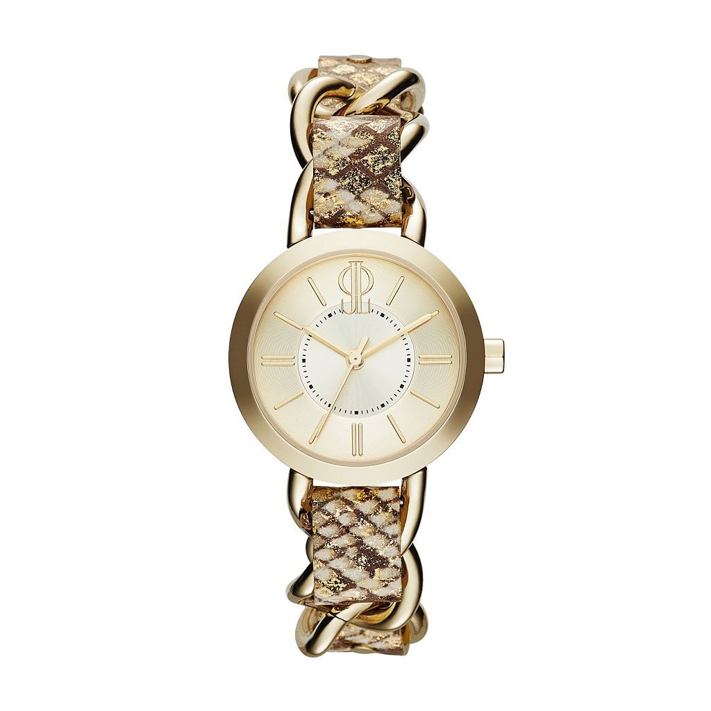 Jennifer Lopez Women's Snakeskin Leather Watch