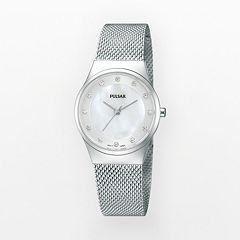 Pulsar Women's Crystal Stainless Steel Mesh Watch - PH8053