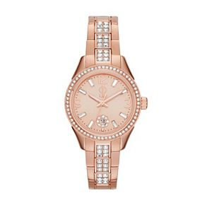 Jennifer Lopez Women's Crystal Stainless Steel Watch