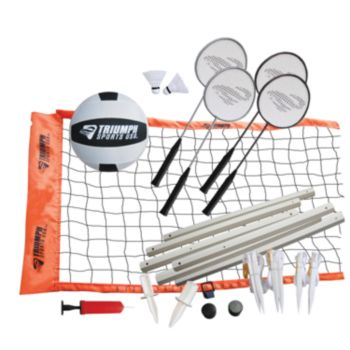 Triumph Sports USA Advanced Badminton and Volleyball Set