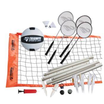 Triumph Sports USA Advanced Badminton and Volleyball Set