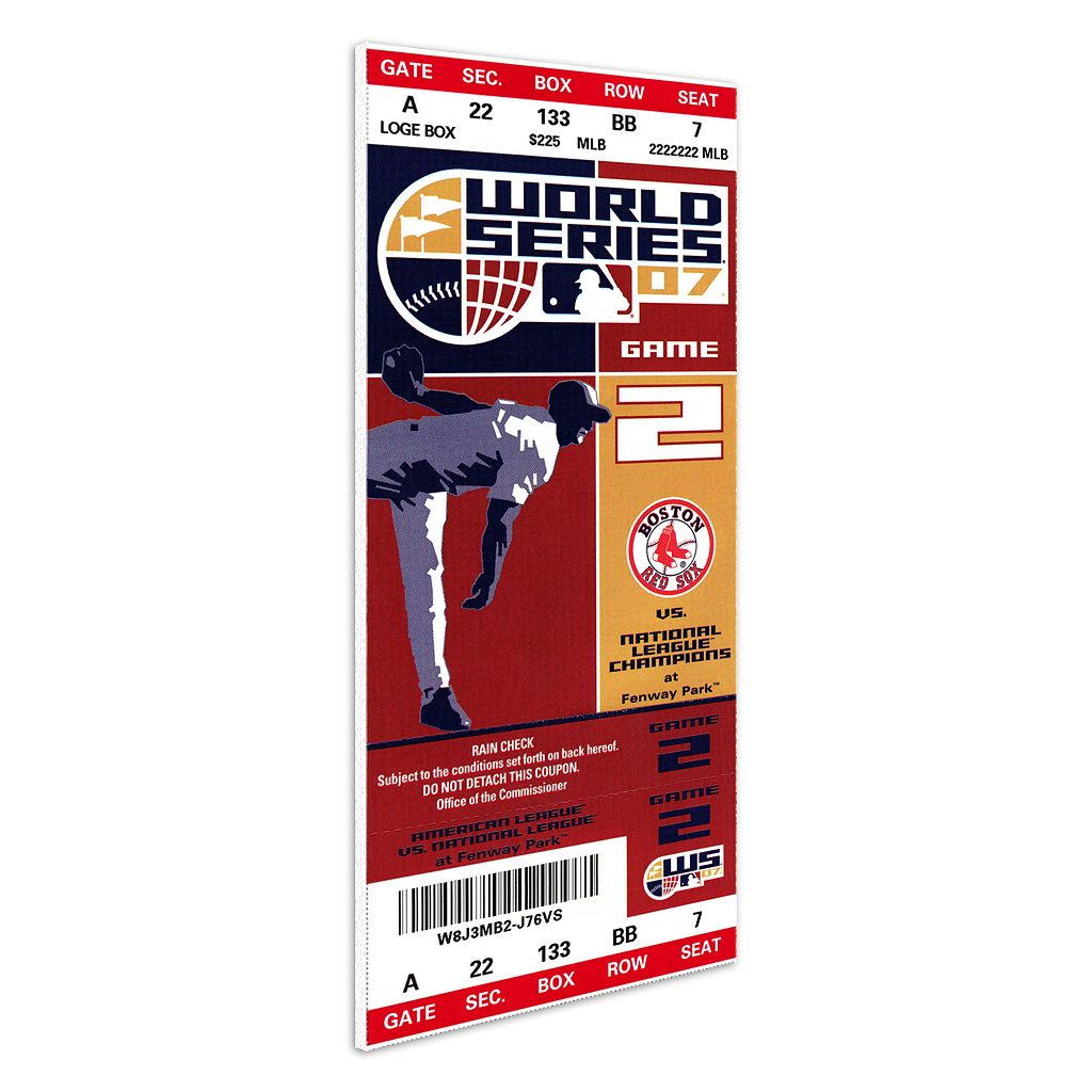 Boston Red Sox 2007 World Series Mini-Mega Ticket