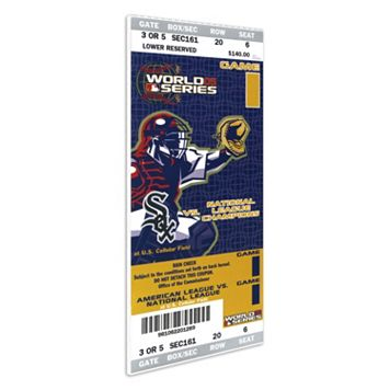 Chicago White Sox 2005 World Series Mini-Mega Ticket