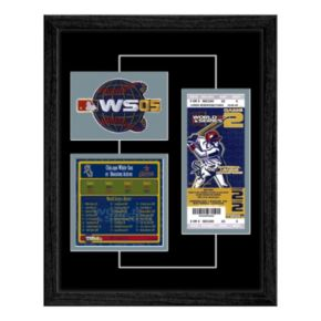 Chicago White Sox 2005 World Series Replica Ticket And Patch Frame